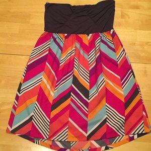 Strapless Roxy summer dress